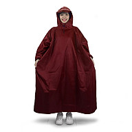 Áo mưa bít người vải dù tổ ong cao cấp freesize - Đỏ thumbnail