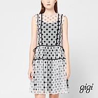 GIGI - Đầm mini sát nách cổ tròn xuyên thấu Tie Side G2101211106D-90 thumbnail