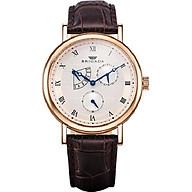 Đồng hồ nam dây da Brigada BRI-3020G (Mặt trắng quai đen viền đồng) thumbnail