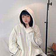 Áo khoác nỉ form rộng đi học có dây khóa kéo KIDO LV31 mềm mịn kiểu dáng thời trang teen thumbnail