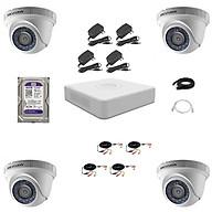 Trọn bộ 4 Camera quan sát HD-TVI Hồng Ngoại 2MP HIKVISION - Hàng chính hãng thumbnail