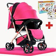 Xe đẩy cho bé 2 chiều, Xe đẩy trẻ em gấp gọn HT 105 - 2 chiều 3 tư thế đa năng, kiểu dáng sang trọng, dễ dàng mang theo ( TẶNG KÈM BỘ THẺ HỌC THÔNG MINH 16 CHỦ ĐỀ 416 THẺ CHO BÉ ) - xe đẩy du lịch, xe đẩy gấp gọn, xe đẩy cho bé, xe đẩy em bé thumbnail
