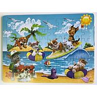 Tranh ghép hình 60 mảnh - Combo 3 tranh gỗ ghép hình cho bé thumbnail
