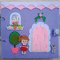 Sách vải Nhà búp bê (Hình thật 100%) - Đồ chơi sách vải Handmade cho bé - Sách vải Búp bê - Đồ chơi Nhà Búp bê Mini thumbnail