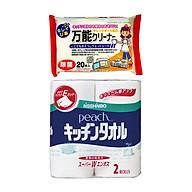 Combo Set 2 Cuộn Khăn Giấy Bếp Cao Cấp +Set 20 giấy ướt vệ sinh bếp, lò vi sóng- Nội Địa Nhật Bản thumbnail