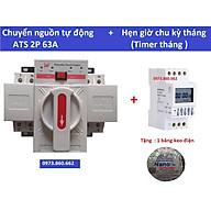 Combo ATS 2P 63A + Timer tháng ( hẹn giờ chu kỳ tháng ) - Đấu dây và cài đặt sẵn thumbnail