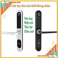 Khóa cửa thông minh HL-8500 vân tay, mật mã, thẻ từ và chìa cơ cho cửa kính khung nhôm xingfa, cửa hẹp, cửa sắt hilock thumbnail