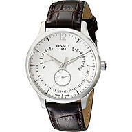 Tissot Men s T0636371603700 Stainless Steel Watch With Brown Band thumbnail