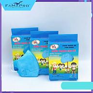 [[ Xuất Khẩu Mỹ ]] - Combo 3 Hộp - Khẩu Trang Y Tế Cao Cấp Famapro Trẻ Em - 3 Lớp 5D Baby Trơn (10 Cái Hộp) - BFE, VFE, PFE 99% Lọc Khuẩn, Bụi, Virus Tốt Nhất thumbnail
