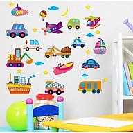 Decal dán tường phương tiện giao thông cho bé thumbnail