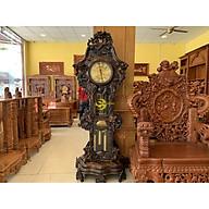 Đồng hồ cây gỗ mun chạm cửu long-DH17 thumbnail