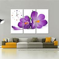 Tranh treo tường, tranh đồng hồ NT156 bộ 3 tấm ghép thumbnail