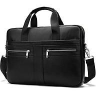 Túi xách cặp da bò đựng laptop 14 inch công sở T13 39x27x7cm thumbnail
