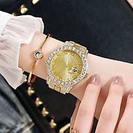 Đồng hồ thời trang nam nữ D8 mặt tròn số la mã dây kim loại thumbnail
