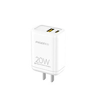 Sạc điện thoại PISEN Pro Dual Port QP 20W (QC, PD 20W) for iPhone 12, TS-C119(QP) _ Hàng chính hãng thumbnail