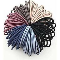 Set 100 dây chun buộc tóc trơn các màu thumbnail