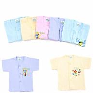 Áo tay ngắn màu cho bé-Set 10 áo tay ngắn sơ sinh màu giữa cho bé 2-12kg thumbnail