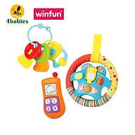 Set 3 món đồ chơi điện thoại, Vô lăng phát nhạc kèm chìa khóa gặm nướu Winfun 3025 - tặng đồ chơi tắm thumbnail