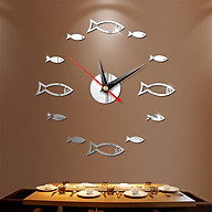 Đồng hồ treo tường 3D tự lắp ráp phong cách Châu Âu hiện đại đang HOT DH06 hình cá thumbnail