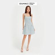 Đầm hai dây nữ thiết kế rã cúp ngực phối nắp túi giả tạo kiểu GUMAC DB5129 thumbnail