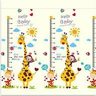 Thảm xốp 2 mặt gấp gọn gàng chống va đập giúp trẻ vui chơi 1.8mx1.6m hình hươu cao cổ thumbnail