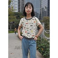 Áo thun in hình bé gái thumbnail