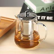 Bình pha trà, pha cafe tiện lợi thủy tinh nắp inox cf7 thumbnail