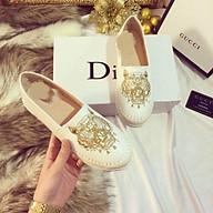 Giày Slipon Giày Lười Nữ Mùa Đen, Trắng Chất Da mềm Êm Chân thumbnail