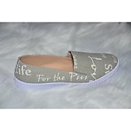 Giày Lười in chữ xám thumbnail