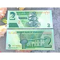Tiền giấy đất nước Zimbabwe 2 Dollar , mới 100% UNC, tặng túi nilon bảo quản thumbnail