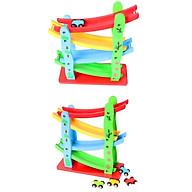 Đồ chơi xe cầu trượt 4 tầng bằng gỗ gồm 4 xe cho bé -Đồ Chơi Gỗ Cho Bé thumbnail