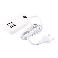 Cổng Sạc USB Cho Điện Thoại - Trắng (6 Cổng 5V) thumbnail