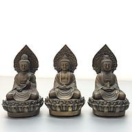 Tượng TÂY PHƯƠNG TAM THÁNH BẰNG ĐỒNG HUN CỔ ( bộ 3 pho) cao 18cm TM121105 thumbnail