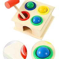 Đồ chơi đập bóng 4 quả màu sắc - Đồ chơi gỗ thumbnail