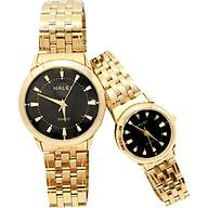 Cặp Đồng Hồ Nam Nữ Halei HL502 (Tặng pin Nhật sẵn trong đồng hồ + Móc Khóa gỗ Đồng hồ 888 y hình + hộp chính hãng + thẻ bảo hành) thumbnail