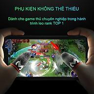 Bộ găng tay chơi game Sợi Carbon cao cấp cảm ứng bao ngón tay chống mồ hôi chống trượt thumbnail