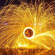 Bùi nhùi thép 1 mét - Steel wool - Vòng Xoáy lửa thumbnail