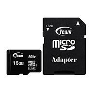 Thẻ nhớ 16gb micro SDHC CL10_U1 500X Team Adapter (Đen) Hàng Chính Hãng thumbnail