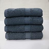 Combo 5 khăn Cotton quấn tóc, khăn mặt - 34x80 cm - màu xám thumbnail
