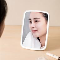 Gương trang điểm di động có đèn Led cao cấp phong cách Hàn Quốc (màu be) thumbnail