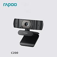 Bản gốc Rapoo C200 Webcam 720P HD với USB2.0 với camera có thể xoay micrô thumbnail
