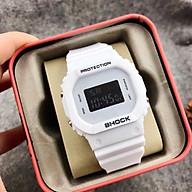 Đồng hồ điện tử thời trang nam nữ Shock S1, mặt vuông dây silicon, có đèn và báo thức. thumbnail