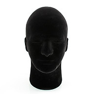 Black Styrofoam Foam Mannequin Manikin Head Model Glasses Display 54cm thumbnail