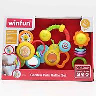 Đồ chơi Set 4 xúc sắc đồ chơi cầm tay Khu vườn của bé Winfun 3207 - Hàng chính hãng thumbnail