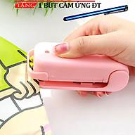 Máy hàn miệng túi mini cầm tay hồng chạy bằng pin cao cấp KH65 Tặng bút cảm ứng ĐT thumbnail