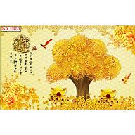 Tranh dán tường 3d cây kim tiền - ép kim sa - có sẵn keo PT48 thumbnail