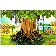 Decal cây bồ đề trang trí bàn thờ CayBoDe_3 nhiều kích thước thumbnail