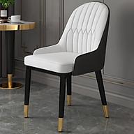 Ghế ăn bọc da - Ghế cafe , ghế phòng ăn , chân sắt sơn tĩnh điện thumbnail