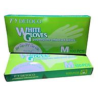 Combo 2 hộp găng tay thực phẩm Detoco size M 100 cái hộp, chế biến thực phẩm, dược phẩm, phòng thí nghiệm, Y tế. thumbnail