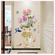 Tranh dán tường bình hoa sen xinh - TD014 thumbnail